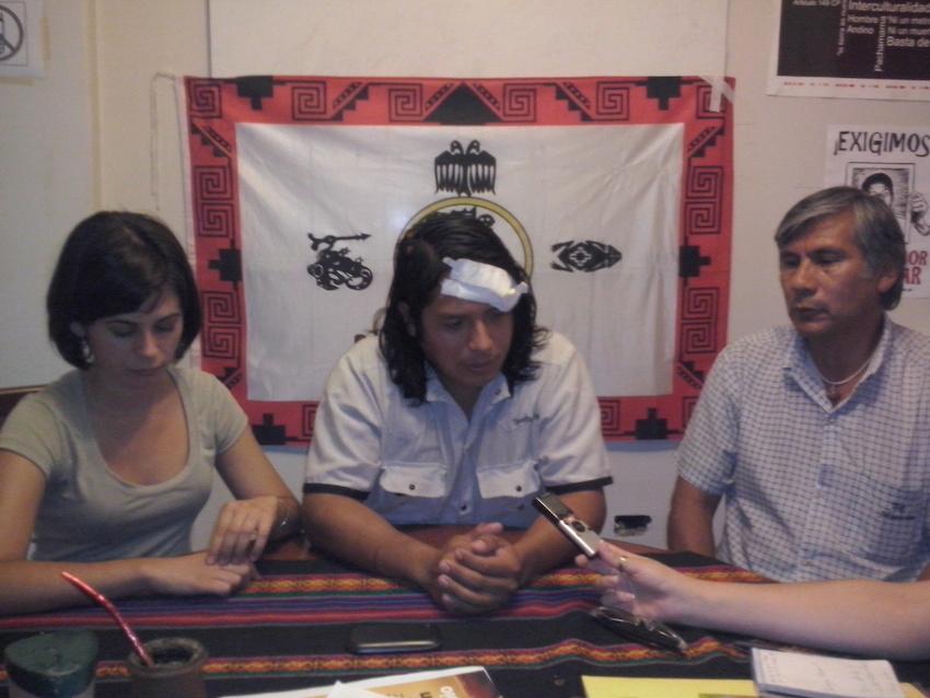 Belén Leguizamón, Sergio Condorí y Delfín Gerónimo.  Fotografía de Exequiel Reinoso