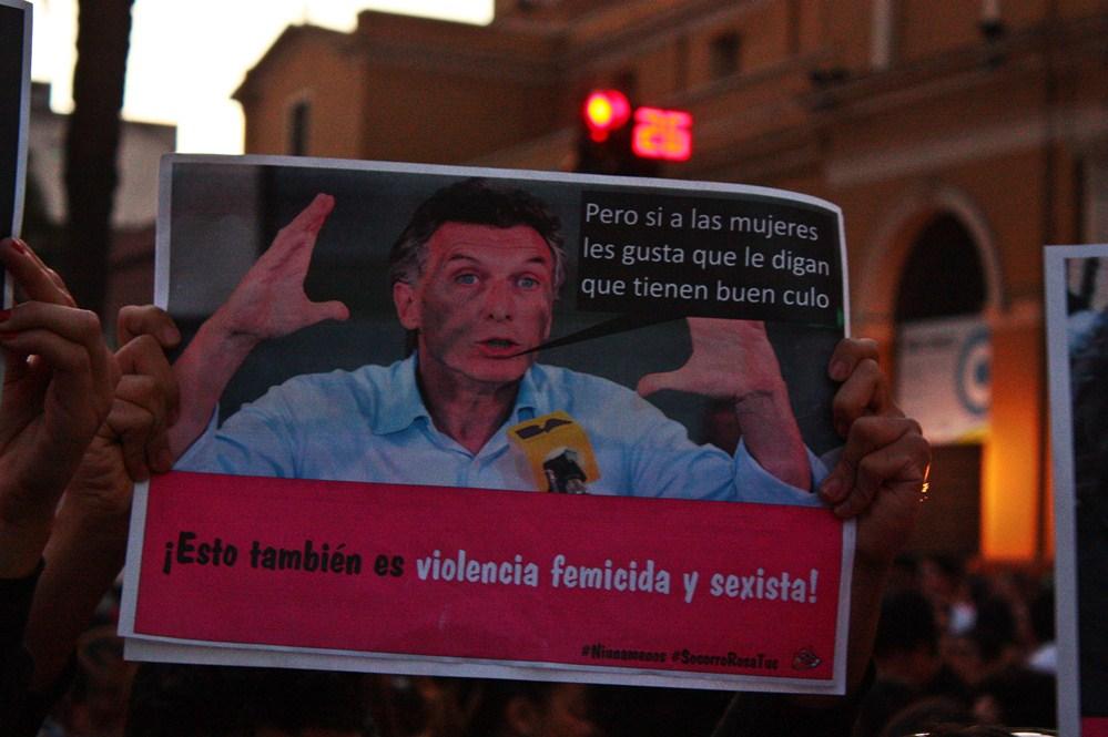 Ni una menos. Fotografía de Ignacio López Isasmendi.