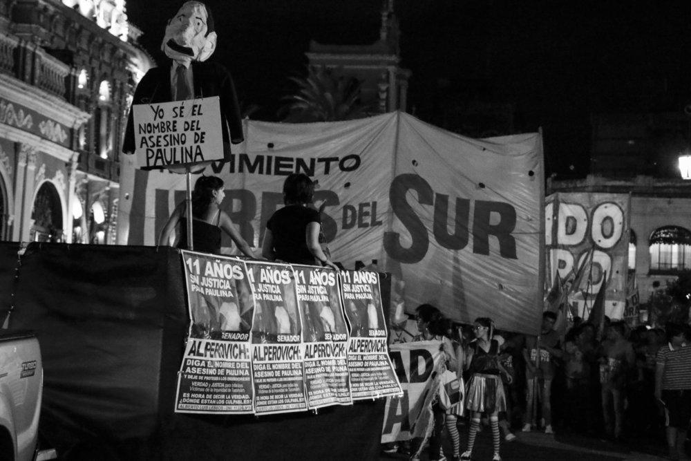 Acto por Paulina Lebbos. 26/02/2017. Plaza Independencia. Fotografía de Fernanda Rotondo.