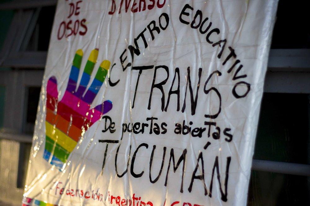 Centro Educativo Trans de Puertas Abiertas (Cetrans). Inauguración del Ciclo Lectivo, 7 de marzo de 2017. Fotografía de Elena Nicolay para La Palta Comunicación Popular.