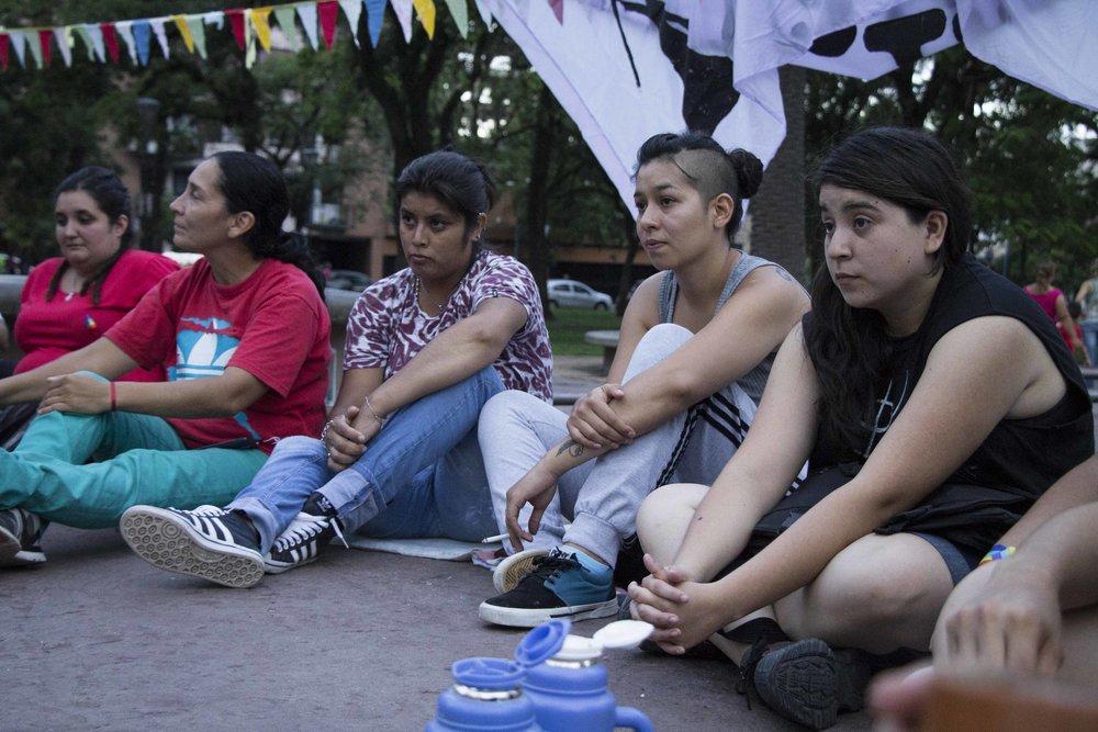 Día de la visibilidad lésbica. Tucumán, 7 de marzo de 2017. Fotografía de Fernanda Rotondo para La Palta Comunicación Popular.