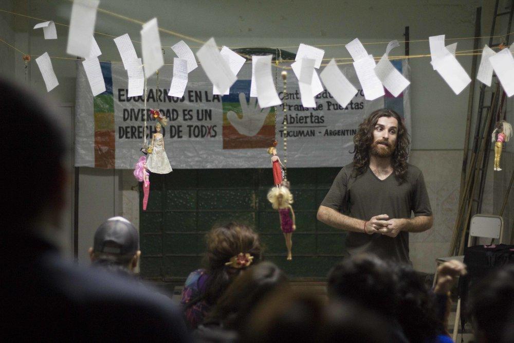 Susy Shock en el CETRANS | Fotografía de Ignacio López Isasmendi