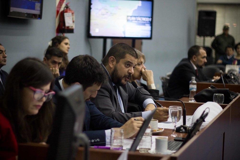 Julia Vitar, Agustín Chit y Pablo Camuña (de izq. a der.), del Ministerio Público Fiscal | Fotografía de Elena Nicolay