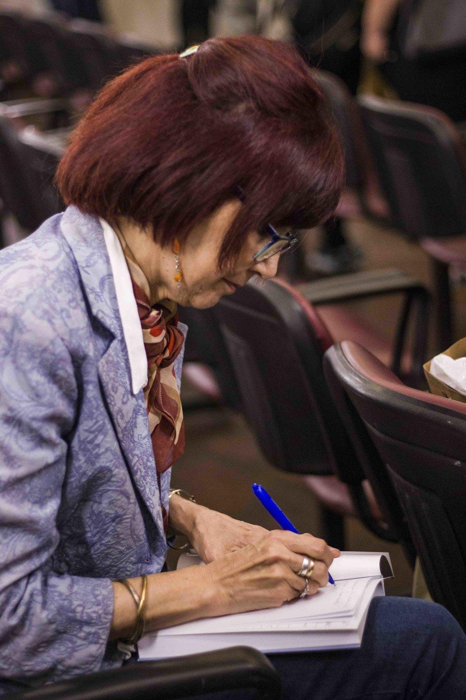 Tina Gardella, compiladora del libro | Fotografía de Ignacio López Isasmendi