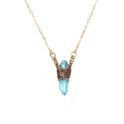 Aqua aura point necklace various aqua aura options i heart aqua aura point necklace various aqua aura options aloadofball Image collections