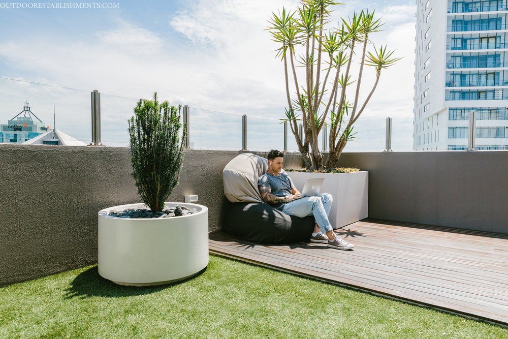 Rooftop garden relaxing Outdoor Establishments