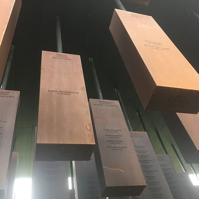 Just wrapped our most important location scout to date, at the newly opened national lynching memorial in Alabama, with @eji_org . . . . #truth #truthtelling #powerful