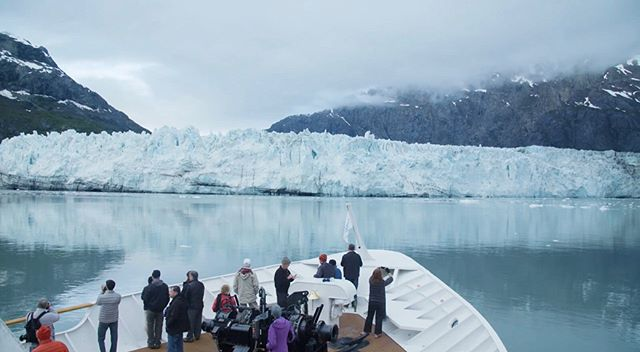 Into the glacier. Great experience on our Alaska adventure with @uncruise