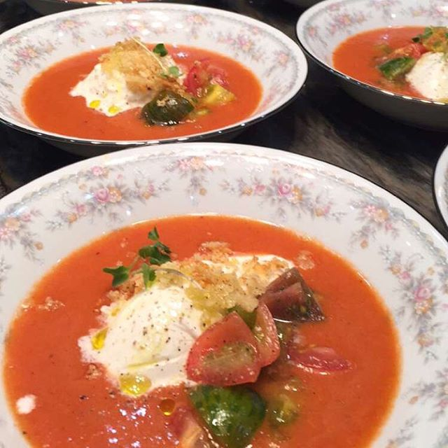 Deca & Otto Buffalo Burrata • Roma Tomato Gazpacho • Heirloom Tomatoes • Parmesan Crumbs  @decaotto #decaotto #cheese #burrata #dish #popular #healthy #lesscholesterol #roma #tomato #gazpacho #heirloom #tomato #fresh #parmesan #crumbs #chefip #chef #private #local #miami #southfl #fortlauderdale #eat #eating #luxurious #home
