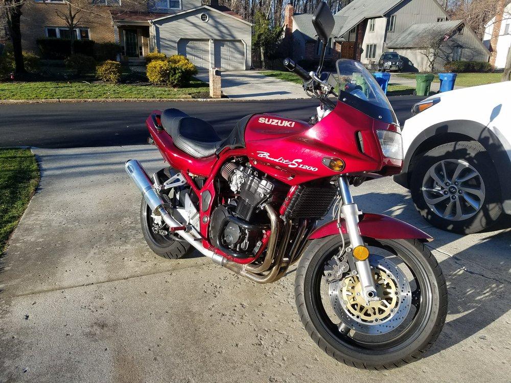 I play hard and drive a 1997 Suzuki Bandit -