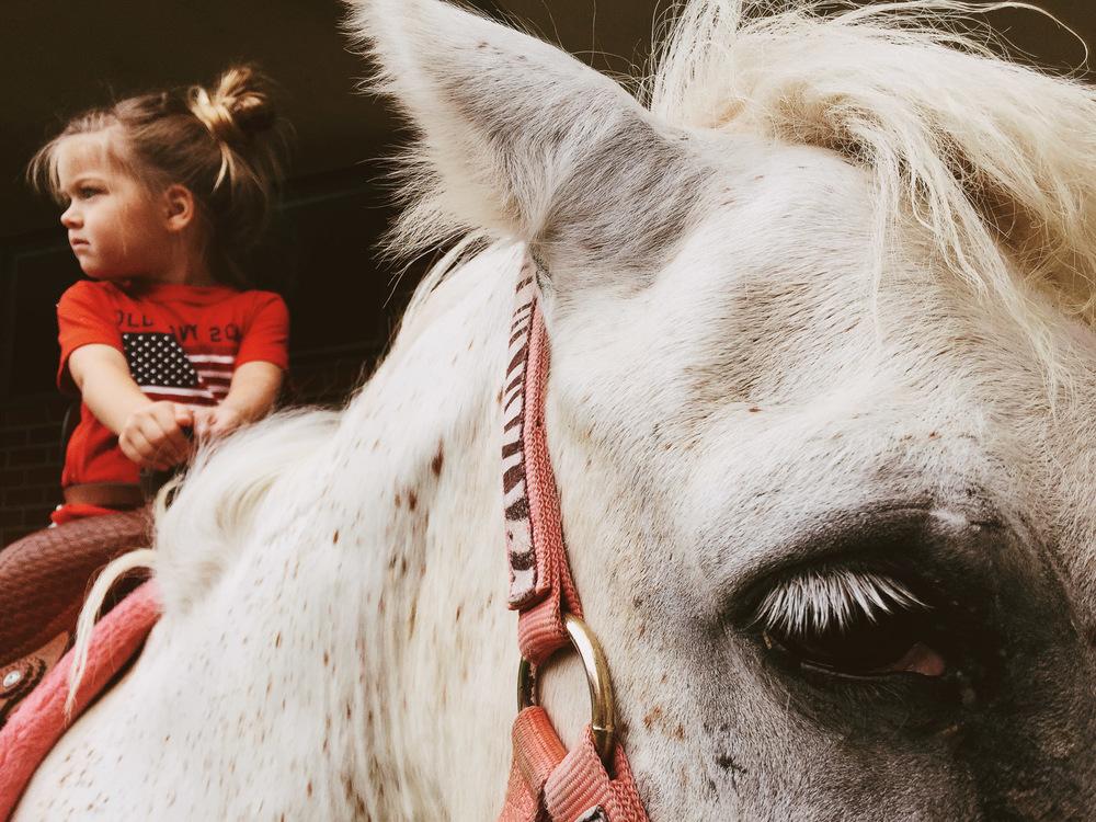 girl on horse, 2015