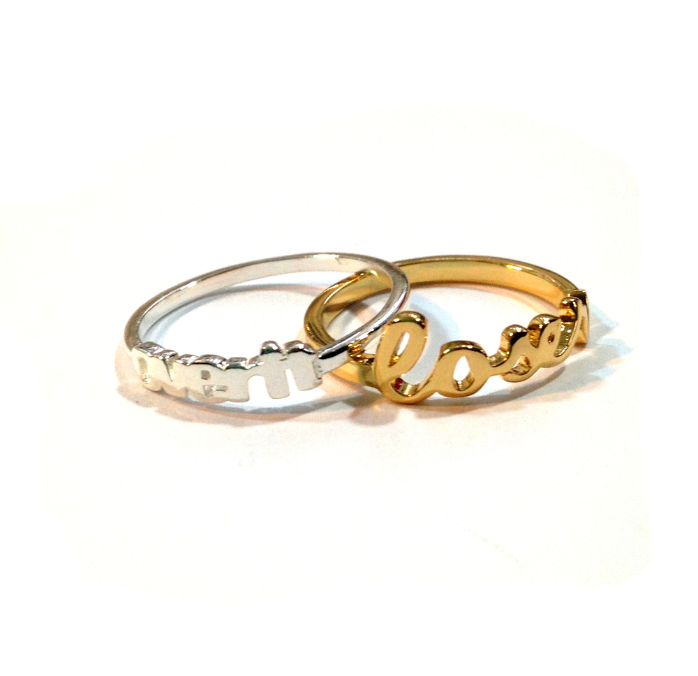 Over It Silver Ring. RETAIL $44.  Loser Gold Plated Ring RETAIL $44. BUY HERE.