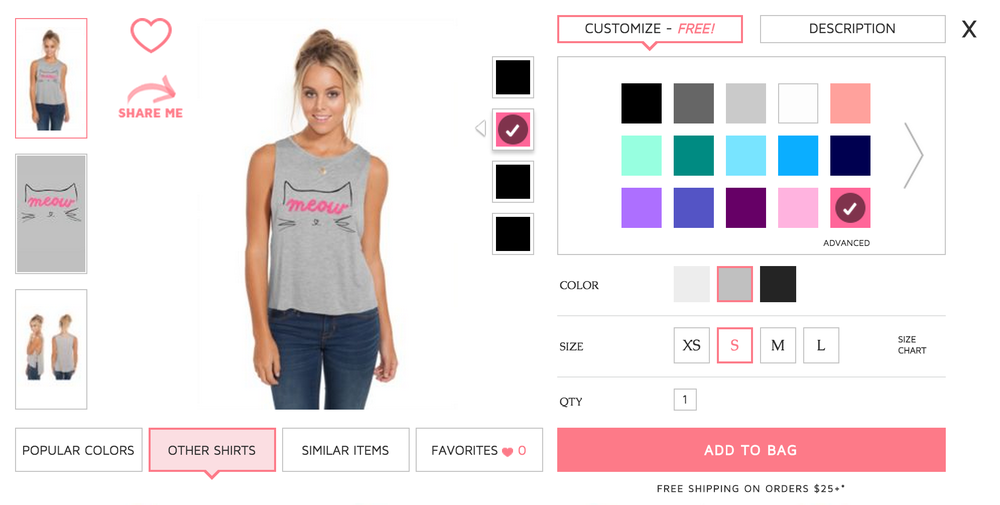 You can customize the shirt style, color of shirt and graphics! BUY HERE.