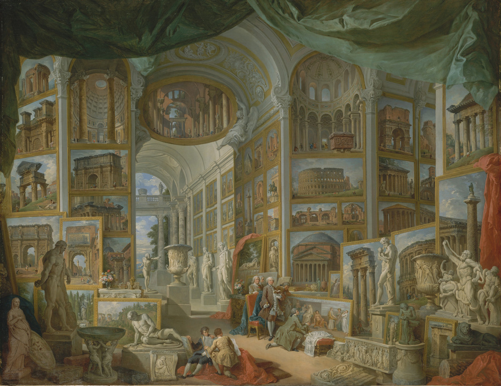Modern Rome  , Giovanni Paolo Panini, 1757.