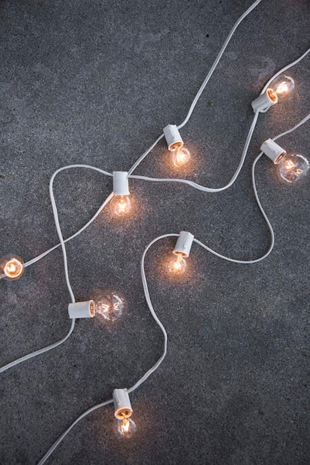 $3.25/ft White String Market Lighting