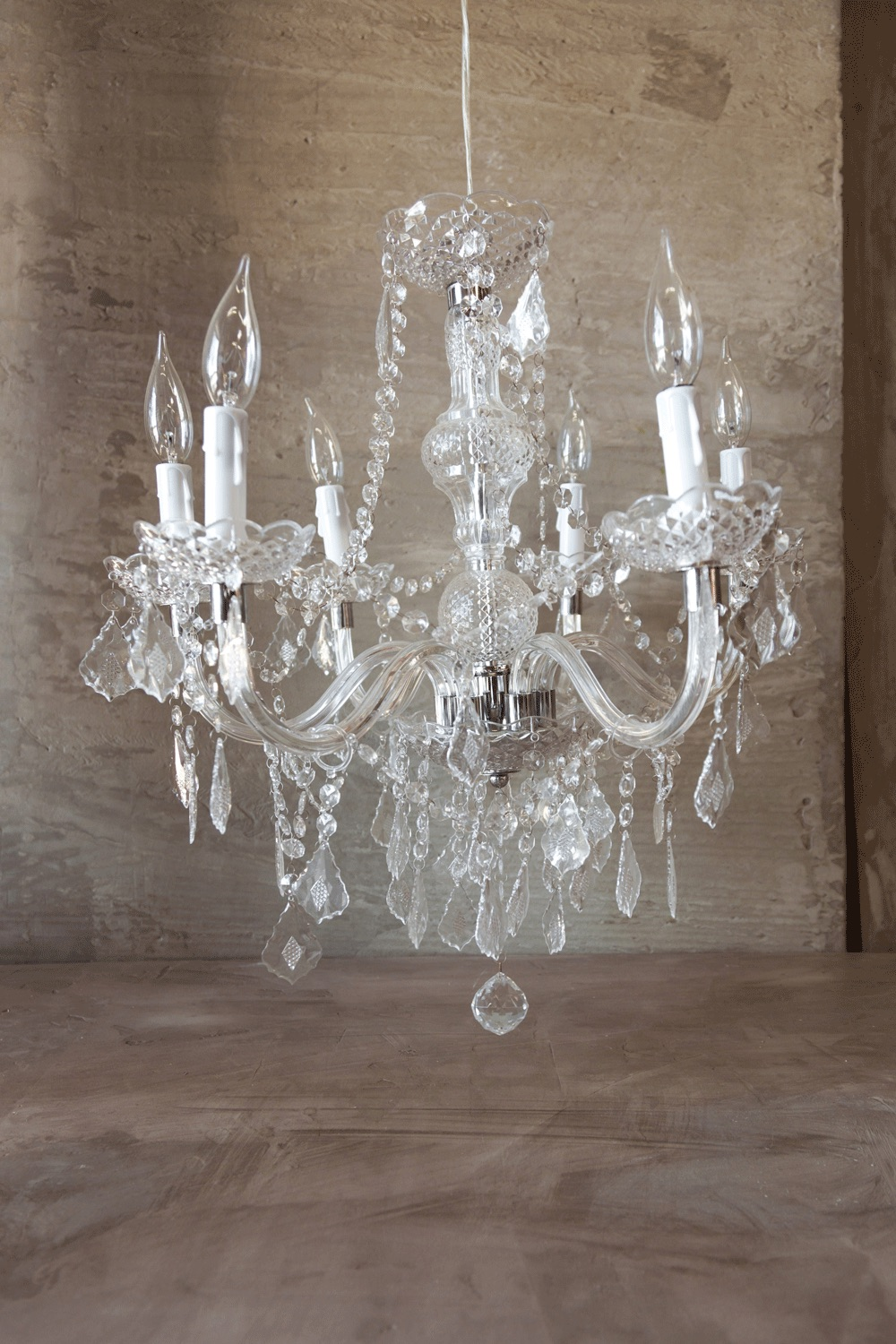 $125 Faux Crystal Chandelier Large