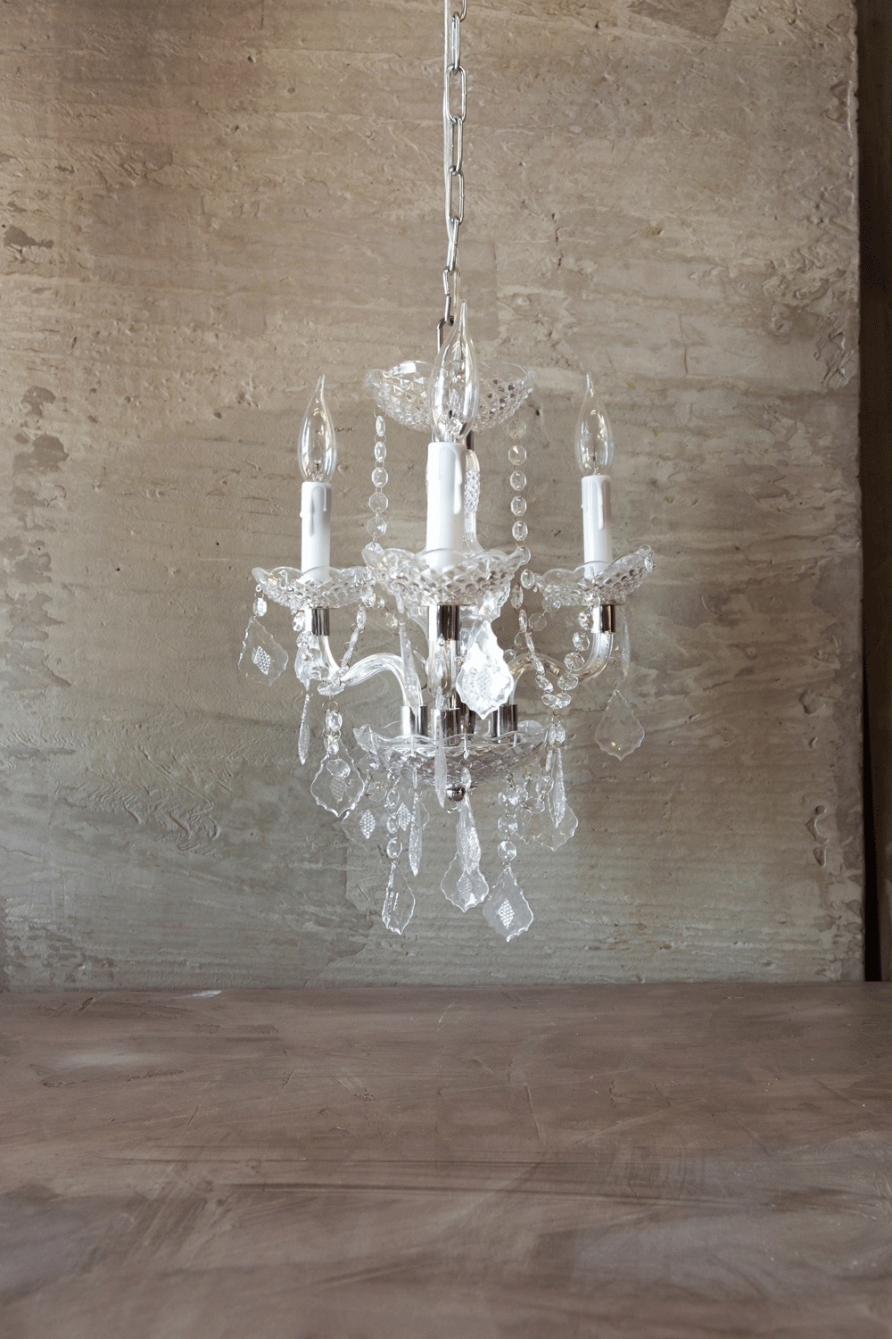 Faux Crystal Chandelier Medium $115
