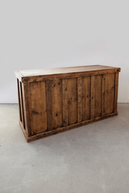 $225 Honey Brown Wooden Bar 6ft