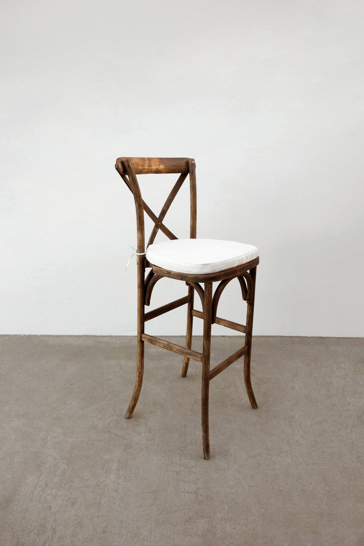 Mahogany Cross-Back Chairs $20