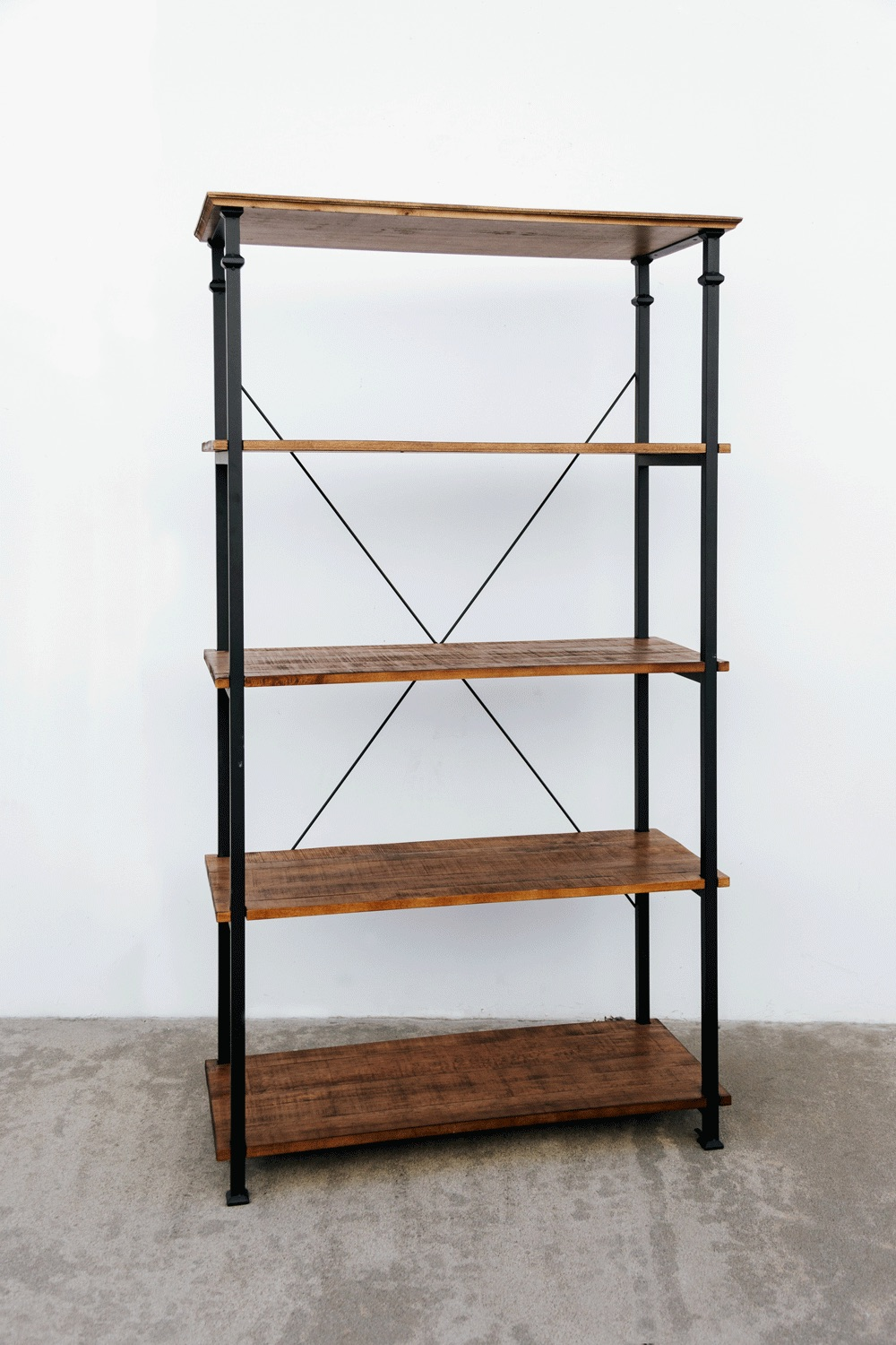 Wooden X Shelf $75