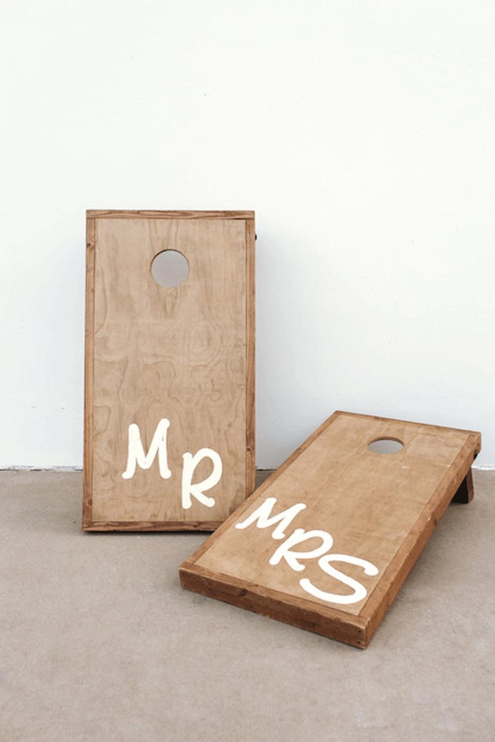 Mr & Mrs Cornhole $50