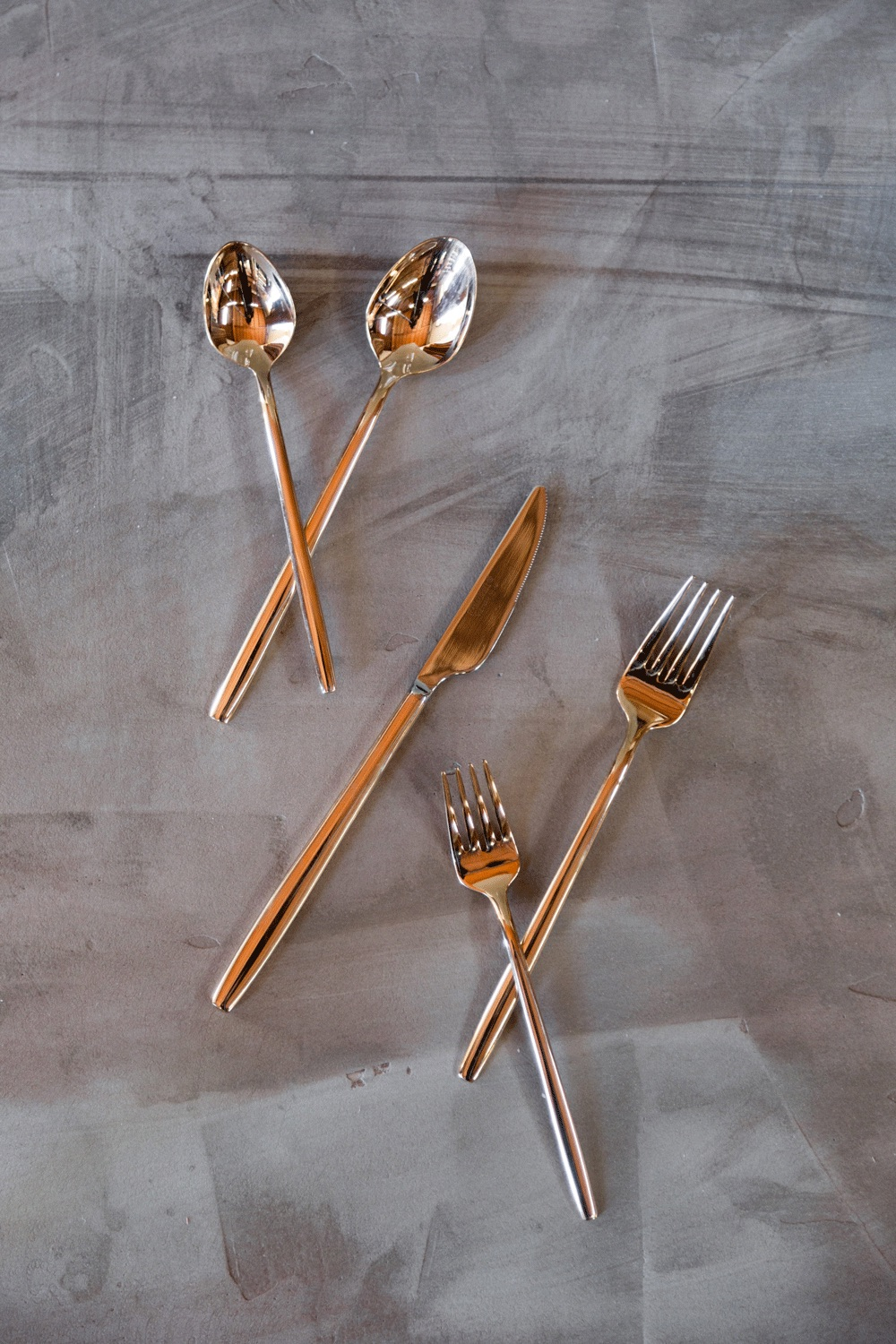 5-piece Rose Gold Flatware $10/each