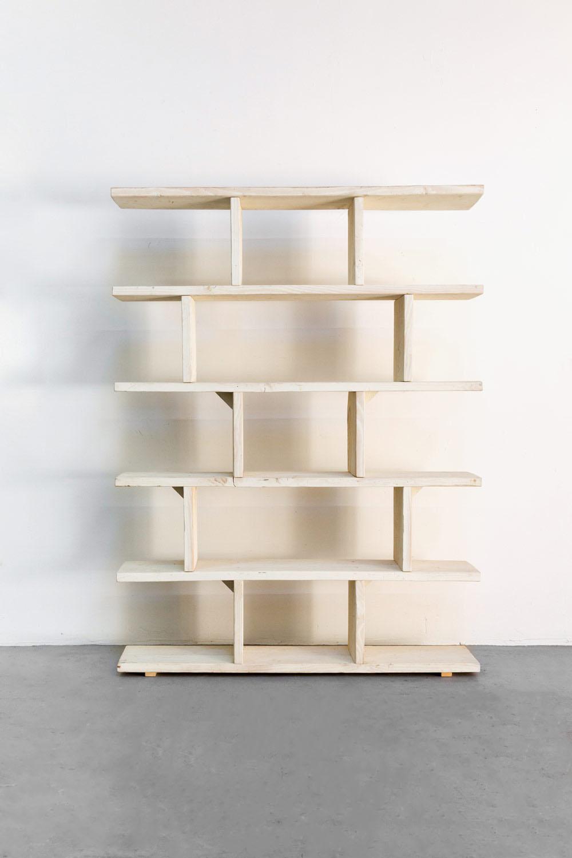 Vintage White Bar Back Shelves $100