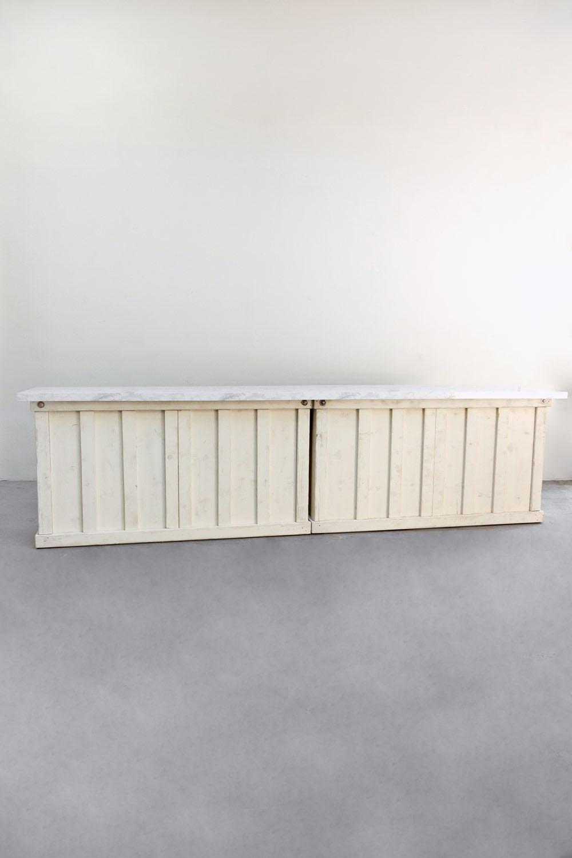 $550 2 Vintage White Wooden 6ft Bars
