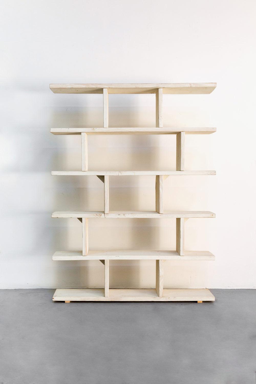 $100 White Wooden Shelves
