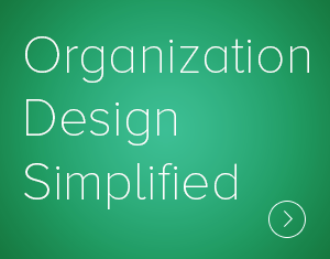 Organization Design Simplifiedprovides an elegantly simple (but not simplistic) 10,000ft view of organization design and what's involved in the journey of system-wide organization change