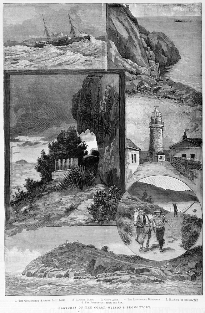 Sketches on the Coast, Wilson's Promontory, SLV