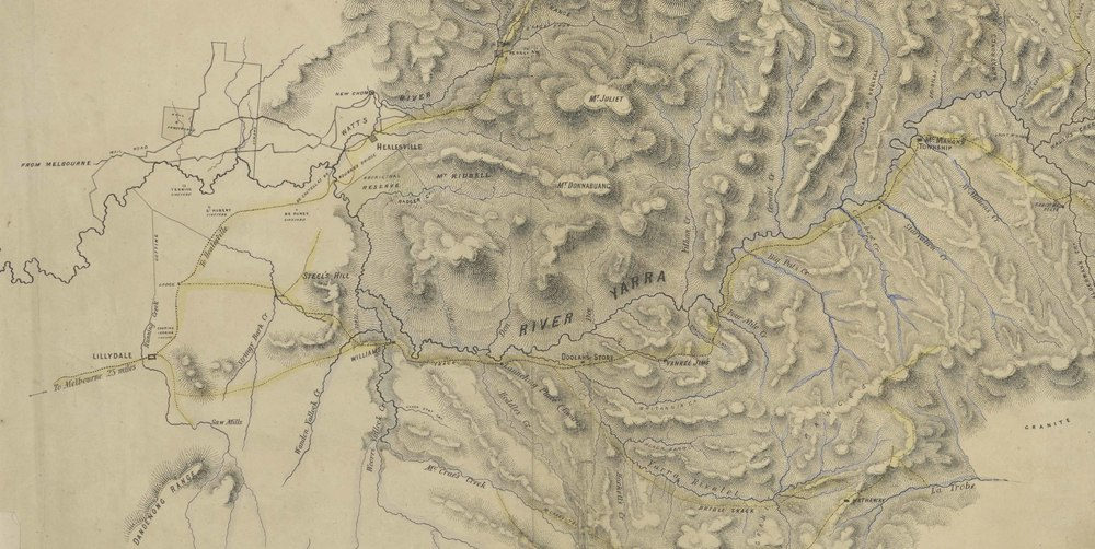Detail, Part of the County of Evelyn, Victoria, 1866, Crown Lands Dept, SLV