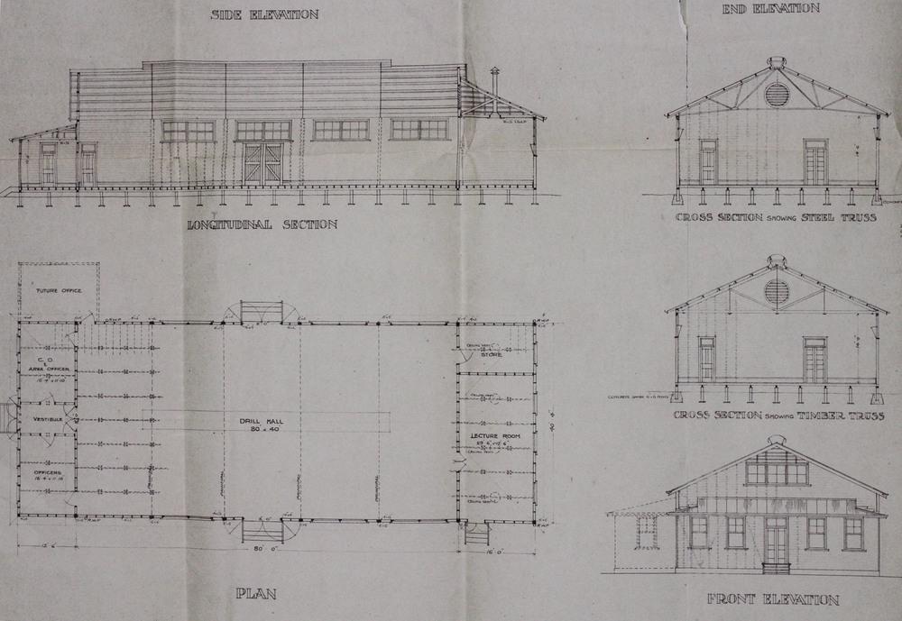 Footscray Drill Hall Plans 1913, MP1142/1, 55/230/44, NAA