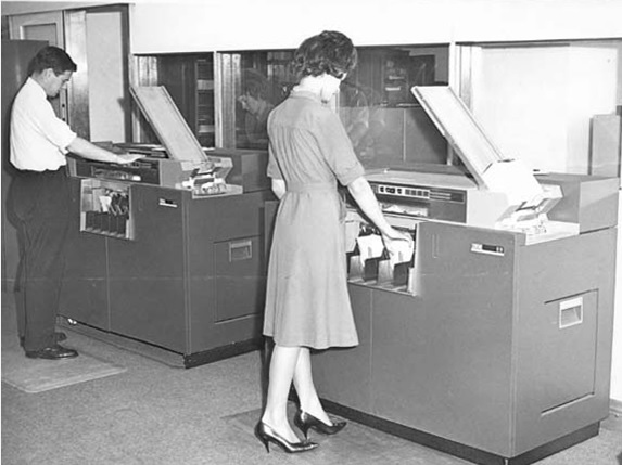Computer Clerks,  PROV, VPRS 8935/P1 State Bank Victoria Archives Photographic Collection, Unit 7, 6365.