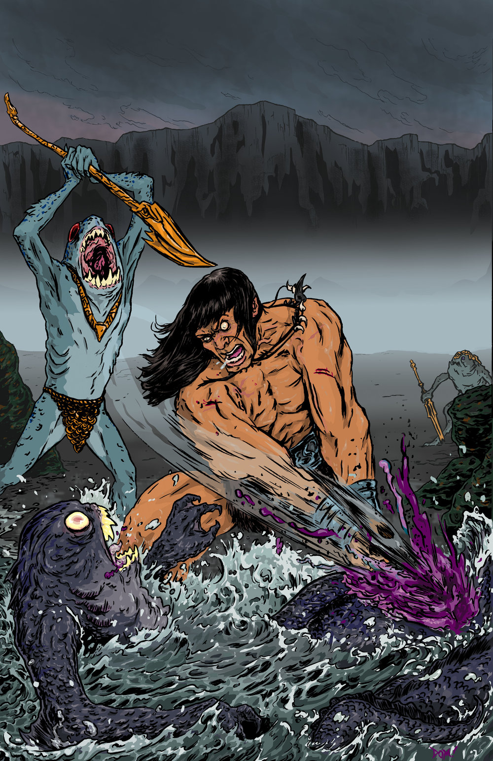 Conan Vs. Deep Ones