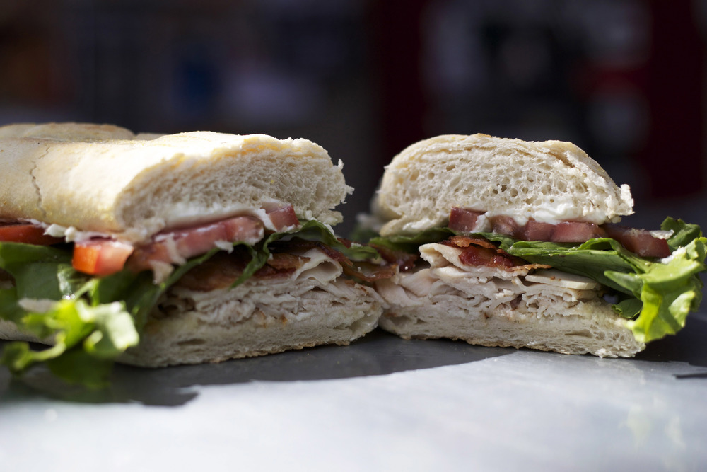 turkey • bacon • cream cheese • mayo • lettuce • tomato
