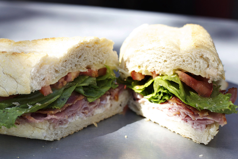 ham • bacon • pepperjack • mayo • lettuce • tomato