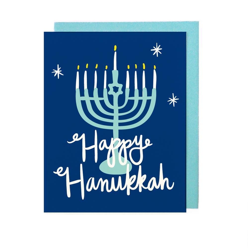 Happy Hanukkah Card Little Low