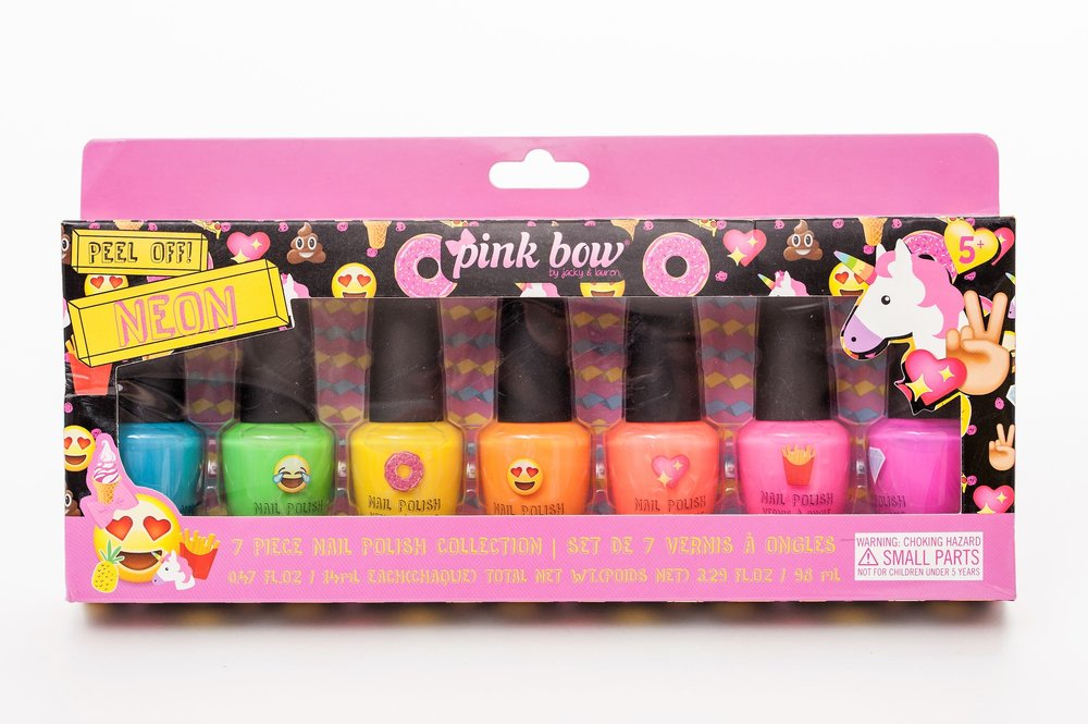 PB15-2800 - 7pcs Neon Kids Nail Polish Set — JACKY + LAUREN
