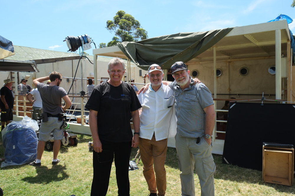 Producer Andrew Ogilvy, James Bogle and Director Don Featherstone