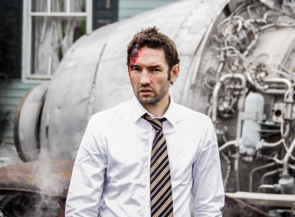 Nash Edgerton on the set of The Captain.  Courtesy of Blue-Tongue Films