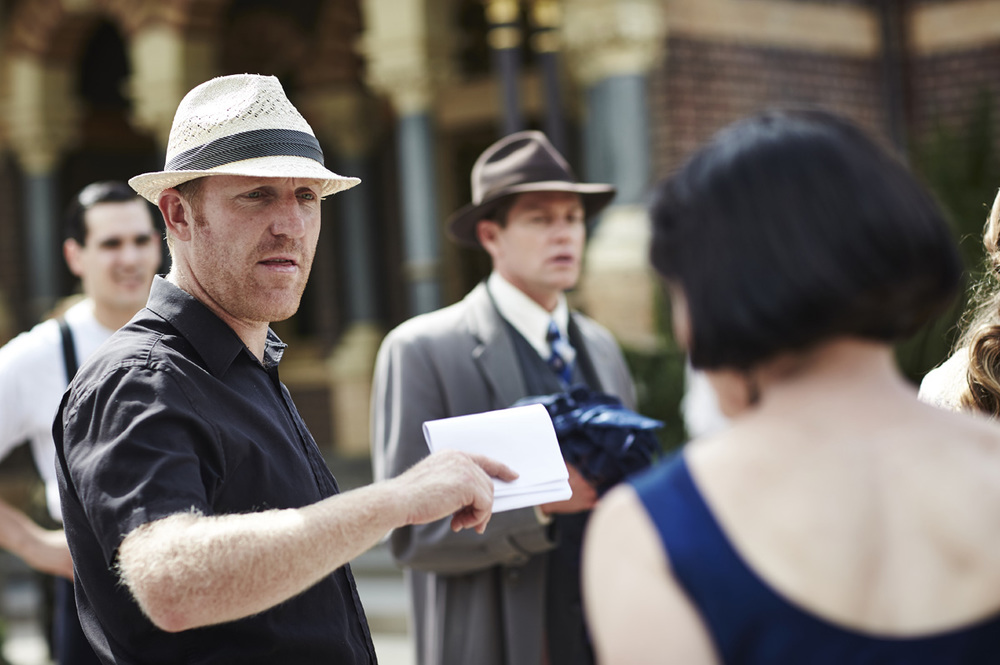 Mat King on the set of Miss Fisher's Murder Mysteries