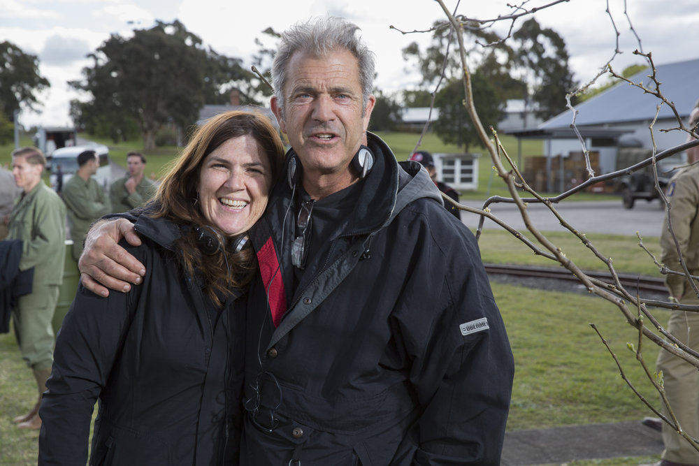 Beth Armstrong with Mel Gibson. Photo by Mark Rogers