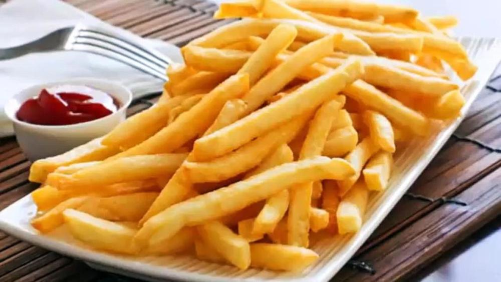 Golden homemade french fries