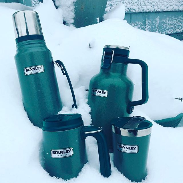 #snow days in #portland require #coffee in the morning, and a #beer in the evening. Thanks @stanley_brand for keeping everything warm, and cold. #pdx #pnw #snowpocalypse