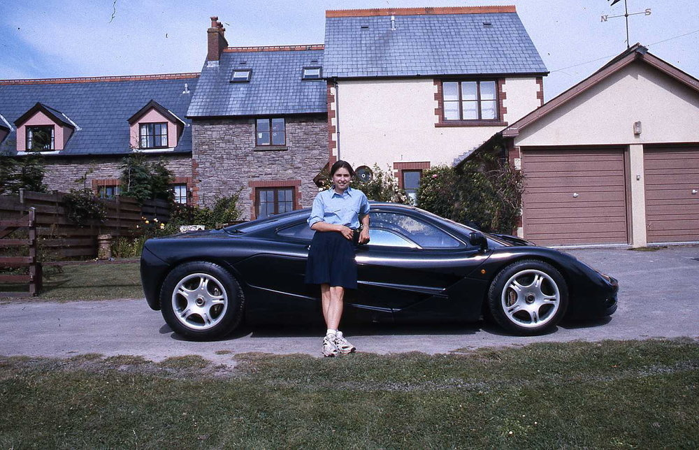Daughter Joanna with her £8.8 million pound school run.