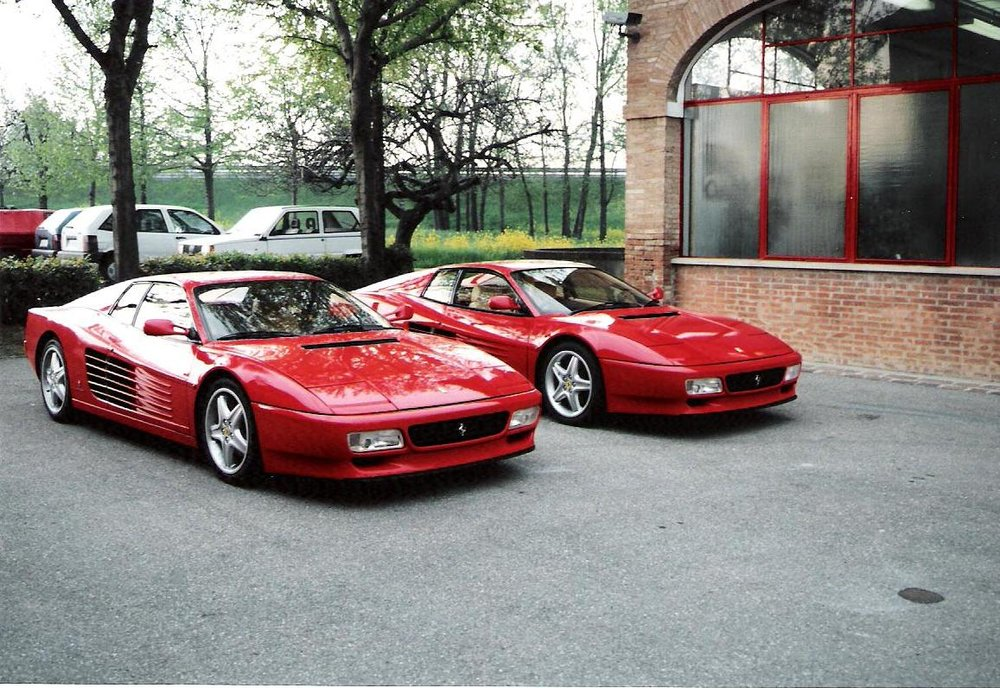 Ferrari Testa Rossa (left front) and Mondial (behind)