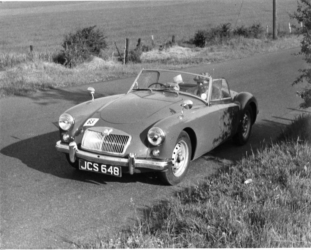 The author's first MG, a 1950s MGA.