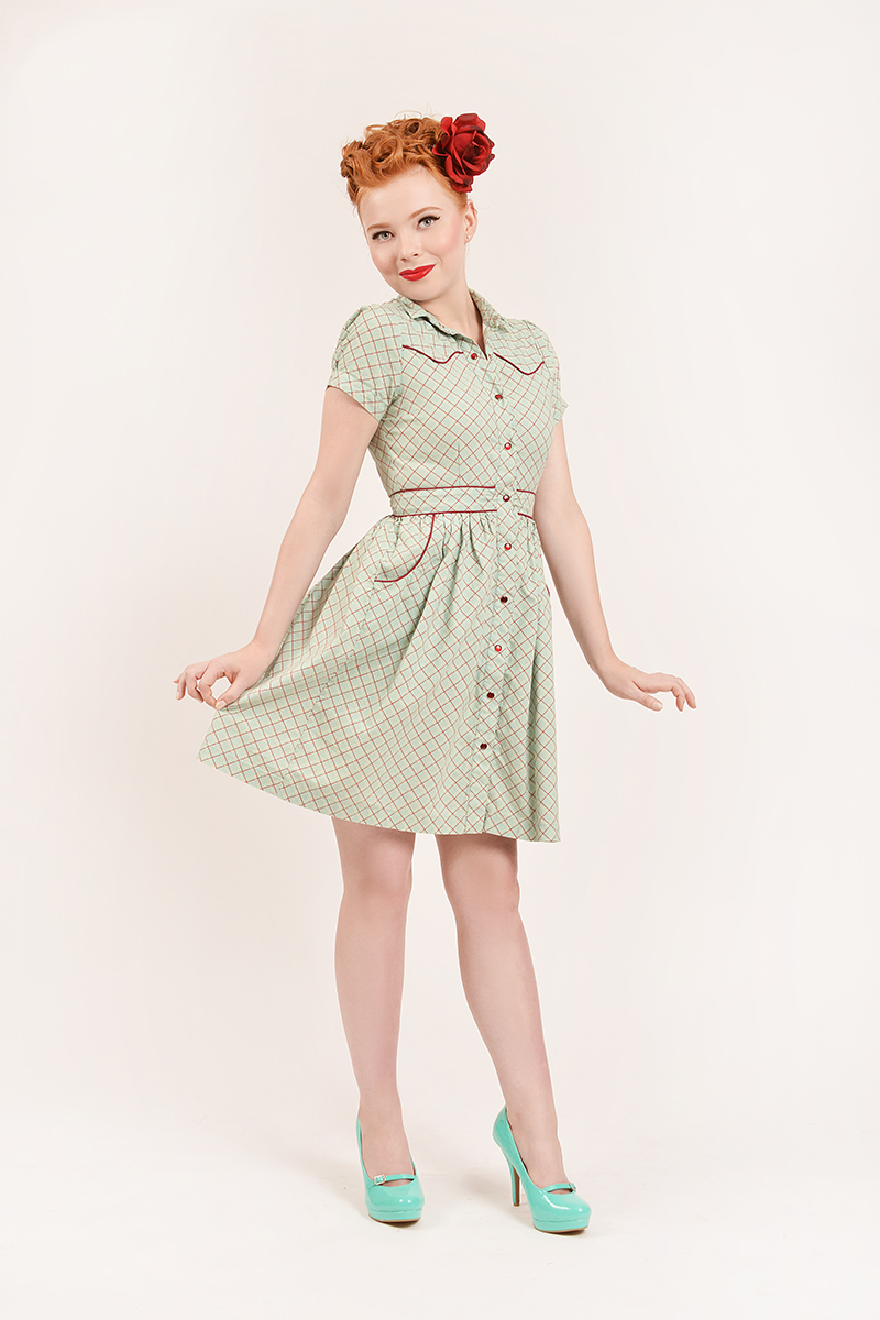 "One of our original ""Rockabilly Gal"" dresses, named after the song!"