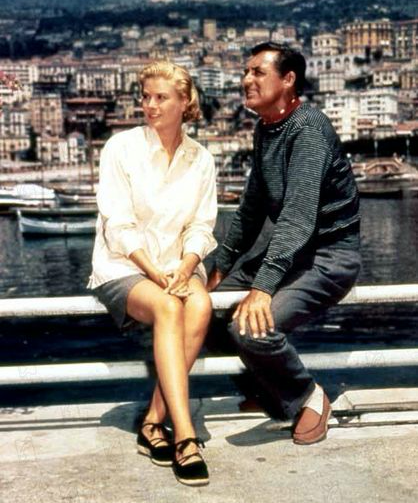 A shot of Grace Kelly with Carey Grant. Both wearing Espadrilles.